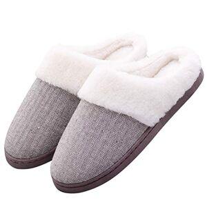 Aibrou Zapatillas de Estar por Casa para Hombre Pantuflas Hombre Unisex Zapatillas de Invierno Hombre de Interior Zapatillas Peluche Antideslizante Hombre
