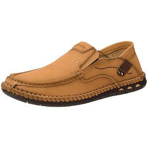 Crown Zapatos Mocasines Hombre Piel Zapatos Verano Hombre Casual, Slip On Zapatillas Cómodo para Verano Calzado de Walking para Hombre
