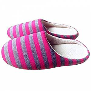 Leisial Raya Zapatillas de Estar por Casa Zapatillas Caliente Slippers Interior Pareja Slipper Zapatillas Algodón Invierno Otoño para Adultos Mujer Hombre