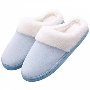 Aibrou Zapatillas de Estar por Casa para Mujer Pantuflas Mujer Unisex Zapatillas de Invierno Mujer de Interior Zapatillas Peluche Antideslizante Mujer