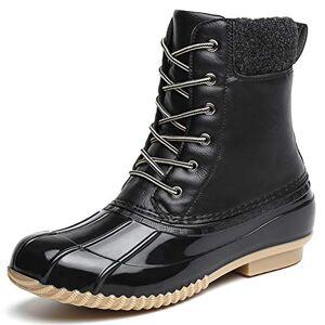 Dannto Botas de Senderismo para Mujer Botas de Nieve Invierno Impermeable Calzado Zapatos de Ocio al Aire Libre y Deportes Zapatillas Antideslizantes cálido Confortables(Negro,39)
