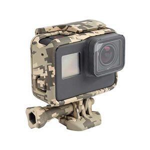 Dgaddcd Camuflaje Protector Cuadro Radiación Caja Recargable Carcasa con Soporte Tornillo Accesorios para GoPro Hero 7/Hero 6/Hero 5 Acción Cámara