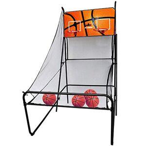 WENZHE-Baloncesto WENZHE Redes Aros Canasta De Baloncesto Tableros Portátiles De Baloncesto Adulto Niño Doble Electrónica Puntuación Máquina De Tiro, 127x210x234cm