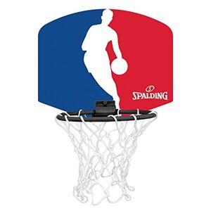 Spalding NBA Logoman (77-602Z) Minicanasta, Unisex niños, Azul/Rojo/Blanco, Talla Única