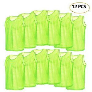 VGEBY 12pcs Petos de Entrenamiento Petos de Fútbol para Adultos ( Color : Verde )