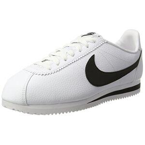 Nike Classic Cortez Leather, Zapatillas de Running Hombre, Blanco / Negro (White / Black), 41
