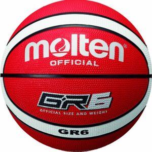 Molten Basketball Pelota de baloncesto, color rojo/blanco, talla 6