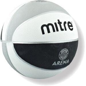 Mitre Arena Training Basketball Black/White/Silver, Size 6