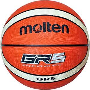 Molten BGHX Balón de Baloncesto de Entrenamiento Junior, Naranja y Marrón claro, Talla 5