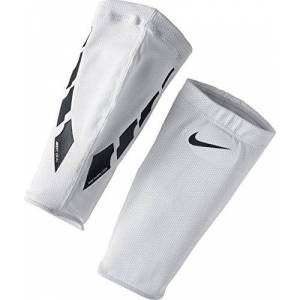 Nike NK Guard Lock Elite SLV Shin Guards, Unisex Adulto, White/Black/Black, XL