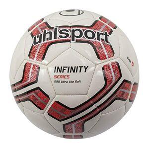 Uhlsport Infinity 290 Ultra Lite Soft Balones de Fútbol, Unisex, Blanco/Rojo/Negro, 5