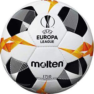 Molten UEFA Europa League 1710 Balón de fútbol Oficial, Color Blanco, Negro y Naranja, tamaño Talla 5