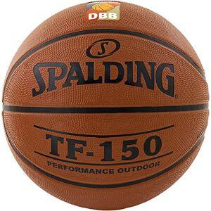 Spalding DBB TF150 Outdoor SZ.5 (83-102Z) balón de Baloncesto, niños, Naranja, 5