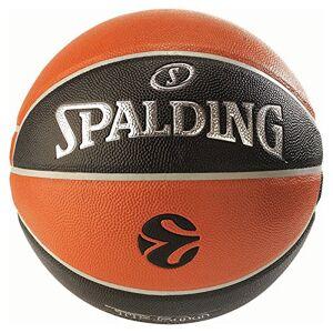 Spalding Euroleague Tf500 In/out Sz.7 (74-539Z) Balón de Baloncesto, Hombre, Naranja/Negro, 7