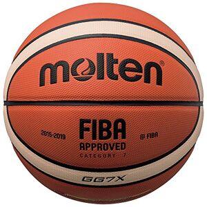 Molten BGGX Balón de Baloncesto Senior Masculino, Naranja y Marrón claro, Talla 7