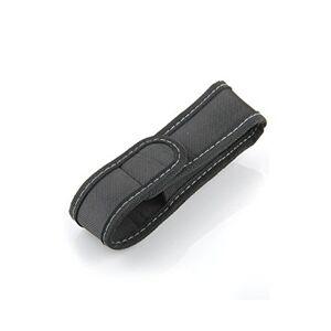 Kanggest Práctico Funda de Linterna con Tapa y Clip para Cintura Cinturón de Nylon -Negro