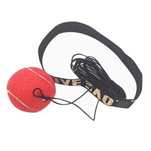 Covermason Material de Gimnasio, Boxeo Pelota y Banda de Cabeza Reflejo Velocidad Formación 2PCS (Rojo)