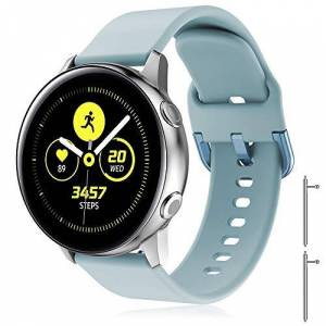 TOPsic Correa Galaxy Watch Active 2 40mm 44mm/Active/Galaxy Watch 42mm/Gear S2 Classic/Gear Sport/Vivomove/HR/Vivoactive 3/Forerunner 245/645, 20mm Silicona Banda de Reemplazo Pulsera