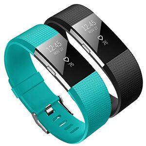 KUTOP Compatible para Fitbit Charge 2 Correa, Charge 2 TPU Silicona Pulsera Sports Reemplazo de Banda de Repuesto Ajustable Fitness Accesorios de Deporte Fit bit Charge 2 Heart Rate Wristband