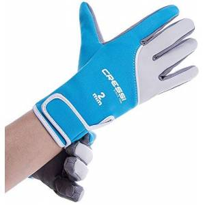 Cressi Tropical Gloves Guantes de Neopreno y Amara de Buceo Adulto 2 mm, Unisex, Azul, L