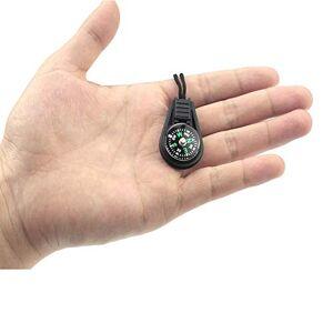 BIYI Brújula pequeña con Colgante de Cuerda Mini brújula brújula (Negro)