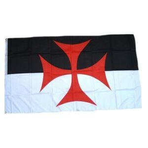 Flaggenking Bandera de King Cruz de los templarios Cruz Banderas/Banderas, 150x 90cm