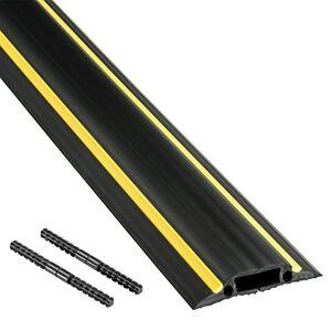 D-line FC83H   Canaleta pasacables para suelo   83 mm x 1,8m - negro y amarillo