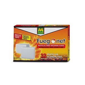 FUEGO NET Fuegonet 231552 Pastillas, Blanco, 19.5 x 3 x 12.8 cm