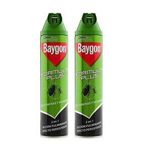 Baygon - Formula Plus Cucarachas Y Hormigas 600 ml - Pack de 2 (Total 1200 ml)