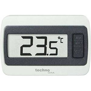 TechnoLine WS 7002 Estación de Temperatura, Blanco y Gris, 6.00x1.40x4.00 cm