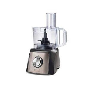 Black & Decker BXFPA1200E Procesador de Alimentos, 1200 W, Acero Inoxidable, INOX + Gris