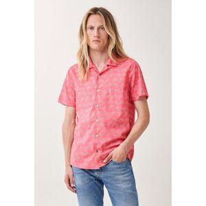 Camisa fit slim manga curta com print allover