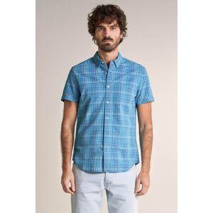 Camisa fit slim manga curta com textura
