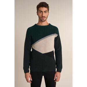 Camisola de tricotado grosso com efeito