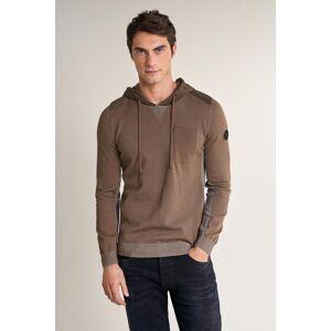 Camisola de tricotado com capuz