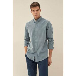 Camisa fit slim com microprint