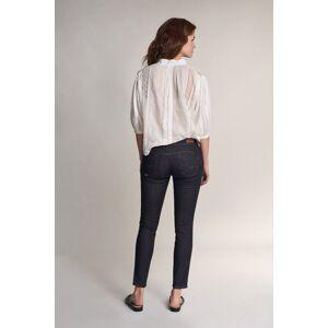Jeans wonder push up cropped com lavagem escura