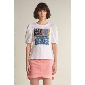 T-shirt branding com patchwork
