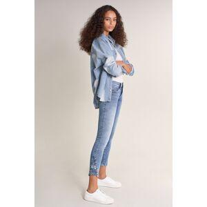 Jeans Push Up Wonder cropped com Jacquard