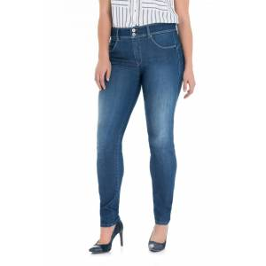 Jeans secret plus push in skinny lavagem media