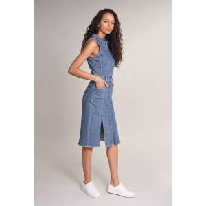 Vestido Push In denim midi