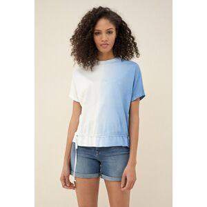 Salsa T-shirt degradê com detalhe na cinta- Azul- female