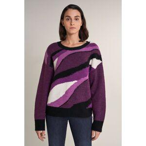 Camisola tricotada grossa multicolor