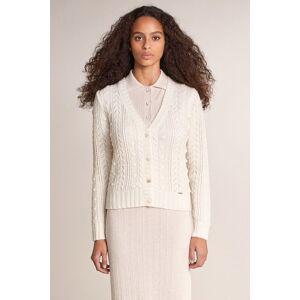 Casaco de malha tricotado com tranças
