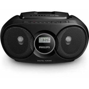 Rádio Boombox CD AZ215B/12 (Preto - Digital - FM - Pilhas e Corrente)