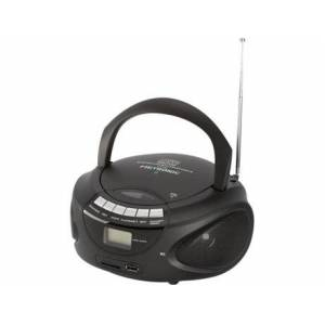 Rádio 477124 (Preto - Digital - FM - Pilhas e Corrente)
