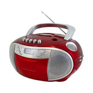 Soundmaster Rádio SCD6900RO (Vermelho - Analógico - AM/FM - Pilhas e Corrente)