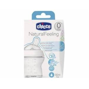 Philips Biberão Silicone CHICCO Natural Feeling + 6 Meses Azul ( 330 ml )