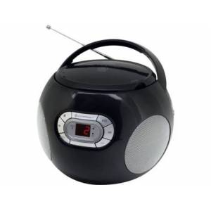 Soundmaster Rádio Boombox CD SCD2120SW (Preto - Analógico - FM - Pilhas e Corrente)