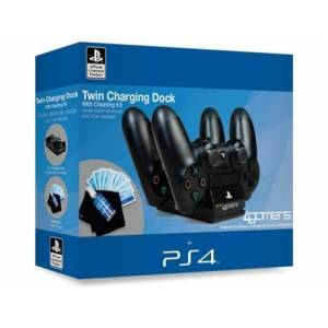 Twin Charger + Pano LIC 4GAMERS em Preto